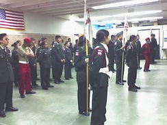 Lowell JROTC indoor review in May 2005.