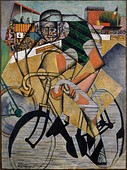 Jean Metzinger, 1912, At the Cycle-Race Track (Au Vélodrome), oil and sand on canvas, 130.4 x 97.1 cm, The Solomon R. Guggenheim Foundation, Peggy Guggenheim Collection, Venice