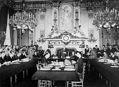 The Schuman Declaration led to the creation of the European Coal and Steel Community. It began the integration process of the European Union (9 May 1950, at the French Foreign Ministry).