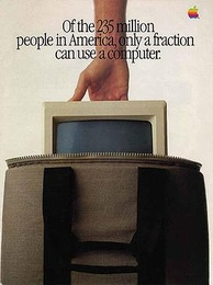 "Page 1 of the 1983 ""Macintosh Introduction"" brochure published in Newsweek magazine."