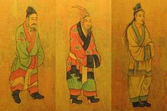 7th century Tang dynasty painting of envoys from the Three Kingdoms of Korea: Baekje, Goguryeo, and Silla
