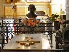 The tomb of Peter the Great in Peter and Paul Fortress