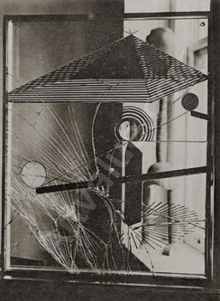 Marcel Duchamp, 1918, A regarder d'un oeil, de près, pendant presque une heure, To Be Looked at (from the Other Side of the Glass) with One Eye, Close to, for Almost an Hour. Photograph by Man Ray, published in 391, July 1920 (N13), Museum of Modern Art, New York