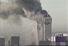 Screencap of the frozen WPIX image from September 11, 2001.