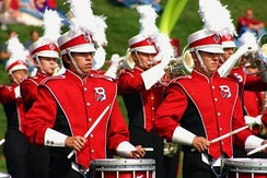 The Pride of Mid-America Marching Band, one of the largest student organizations on campus.