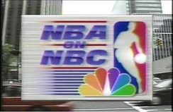NBA on NBC logo used from 1990 to 2000.