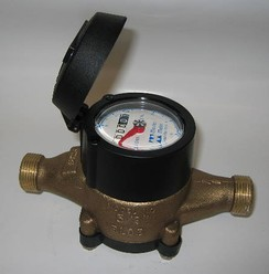 A typical residential water meter