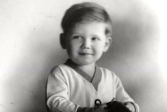 Jerry Goldsmith as a child.