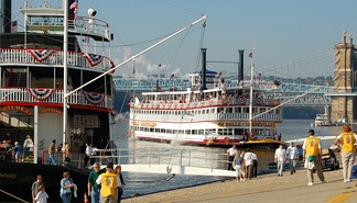 Tall Stacks, held every three or four years, celebrates the city's riverboat heritage.