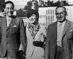 Mayer (r) with Irving Thalberg and Thalberg's wife, actress Norma Shearer, 1932