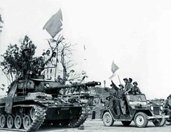The Tri Thien-Hue National Liberation Army and PAVN armoured units capture Hue, March 1975