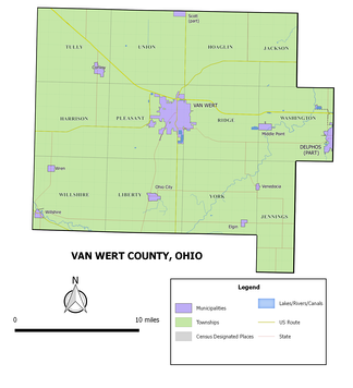 Municipalities and townships of Van Wert County