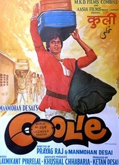 1983 Bollywood movie based on a coolie played by Amitabh Bachchan.