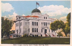 Logan County Courthouse in the 1930s