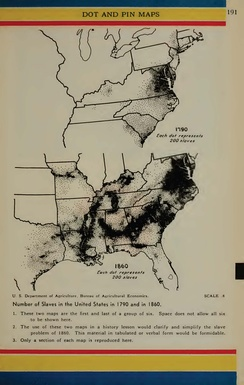 Movement of slaves between 1790 and 1860