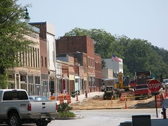 Downtown renovation construction phase 2007
