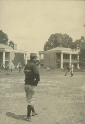 LSU Baseball team playing near the Pentagon Barracks on the old downtown campus in Baton Rouge, 1900