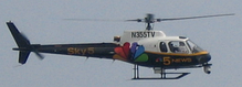 "WMAQ's news helicopter, ""Sky5"" with the old gold 5 logo from July 2006."