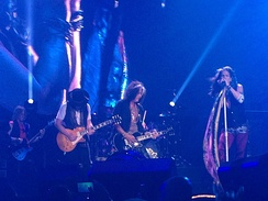 Aerosmith performing on the Blue Army Tour in Grand Rapids, Michigan on August 4, 2015