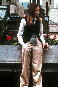 Keaton's dress style as Annie Hall; an influence on the fashion world during the late 1970s