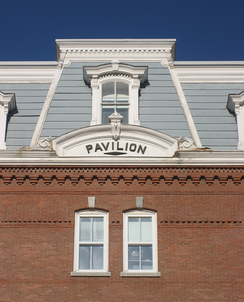 Detail of The Pavilion in Montpelier, location of the Governor of Vermont's working offices