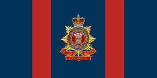 The camp flag of the Royal Regiment of Canada.
