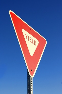 A yield sign.