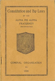The 1907 ΑΦΑ Constitution and Bylaws