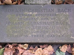 J. C. Bach's memorial,St Pancras Churchyard, London