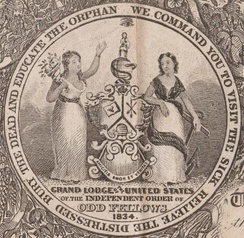 Seal of the Sovereign Grand Lodge of the IOOF, from certificate (1871).