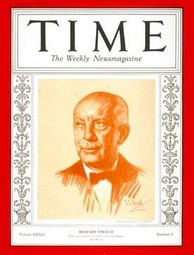 Strauss was on the cover of TIME in 1927 and (here) 1938