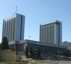 The building of the National Assembly of Azerbaijan