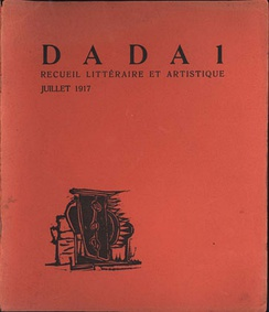 Cover of the first edition of the publication Dada by Tristan Tzara; Zürich, 1917