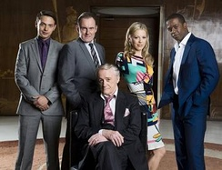 The main cast of Hustle (series 5–8)