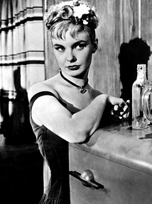 "Woodward in The Three Faces of Eve (1957), displaying ""Eve Black"", the 'bad girl' personality"