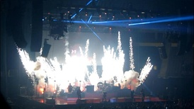 "Pyrotechnics during ""Miss Atomic Bomb"""