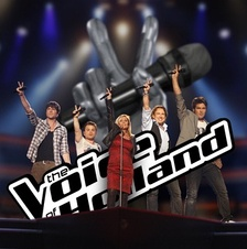 Promotional photograph of the Coaches of season 2 of The Voice of Holland
