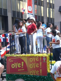 The Dominican Day Parade in New York City, a major destination for Dominican emigrants.