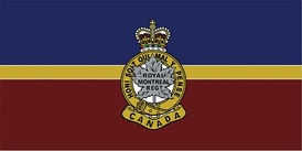 The camp flag of The Royal Montreal Regiment.