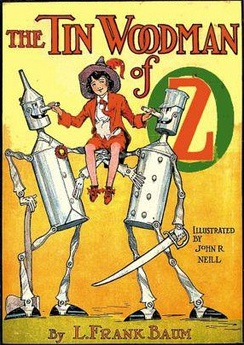 Captain Fyter with the Tin Woodman and Woot on the cover of The Tin Woodman of Oz