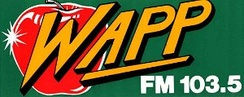 The WAPP apple logo from 1982–1986