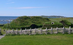 L'Anse aux Meadows on the island of Newfoundland, site of a Norsemen colony.