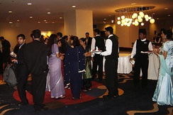A group of Punjabi Indo-Canadians attending a Punjabi wedding reception