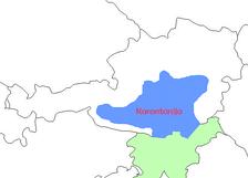 Территория княжества Карантании в 828 году