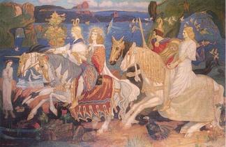 «Всадники сидов». Джон Дункан, шотландский художник XIXв.
